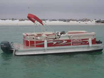 20 ft (7 passenger) Pontoon Boat Rental - TripShock!