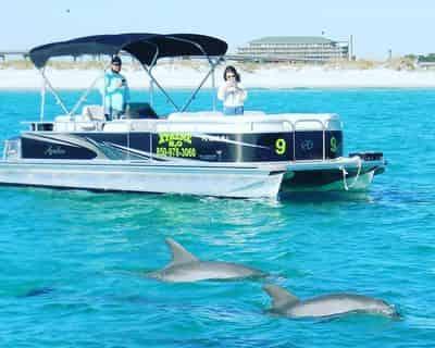 Destin X Pontoon Boat Rental - Departing From Destin Harbor