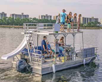 OB Watersports Full Day Pontoon Boat Rental