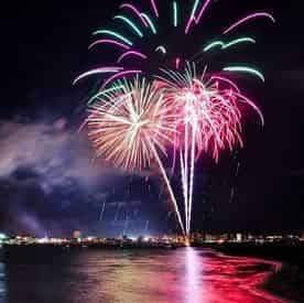 Sunset & Fireworks Pontoon Boat Rental with Gilligan's Watersports
