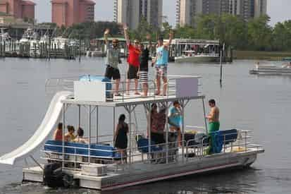 Half Day Pontoon Boat Rental with Optional Slide Upgrade