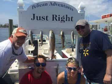 Pelican Adventures Nearshore Bay Fishing Charter
