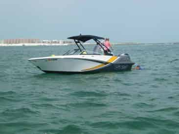 Private Ski Boat Cruise with Captain by Sun Dogs Parasail