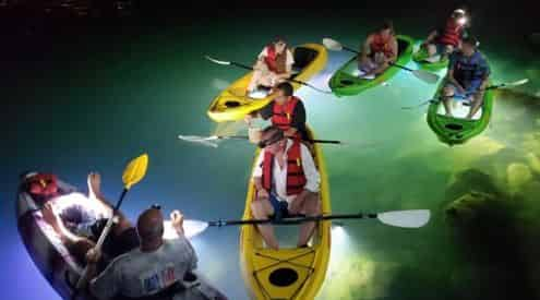 Glass Bottom Kayak LED Illuminated Night Tour