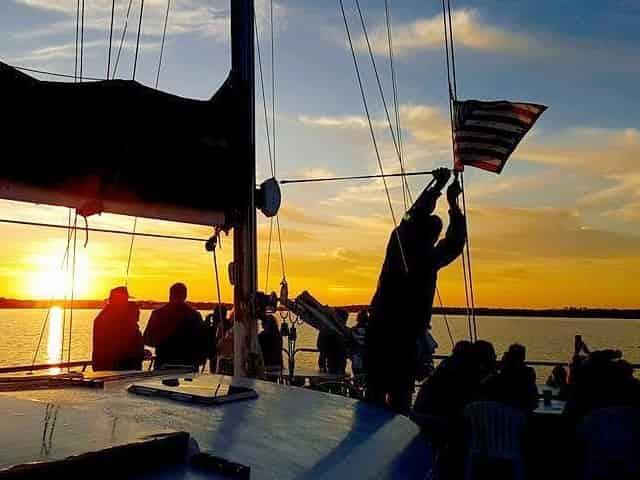 gulf shores dolphin sunset sailing cruise