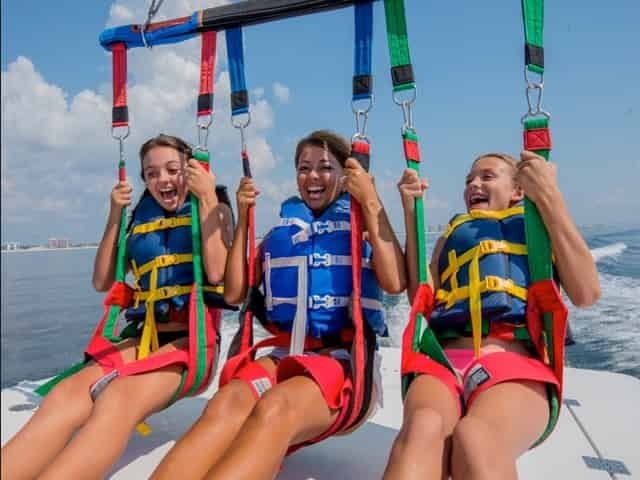 Orange Beach parasailing for kids