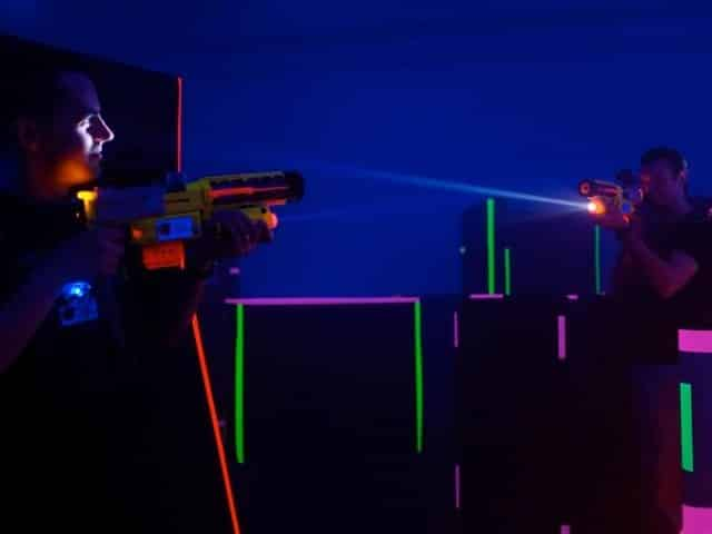 playing laser tag in panama city beach