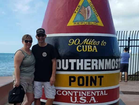 couples photo at southernmost point usa