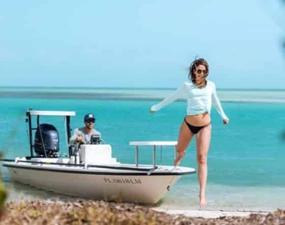 boating in the keys on a romantic getaway