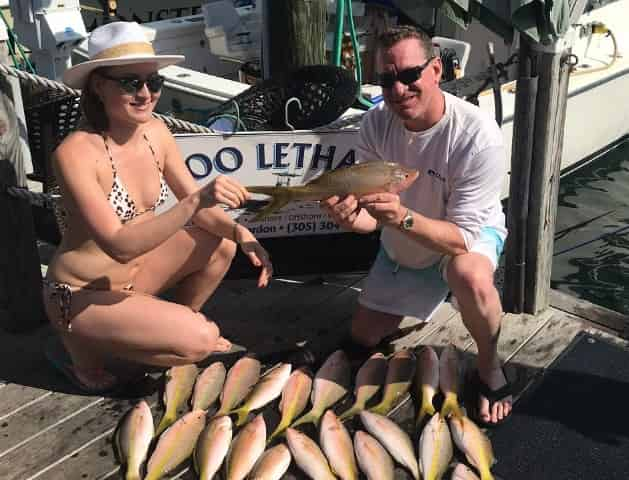 snapper caught on a key west fishing charter