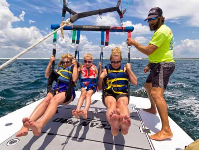 family parasailing in destin