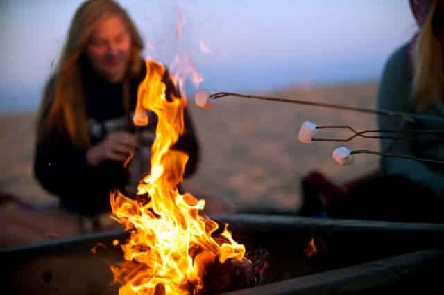 destin beach bonfires