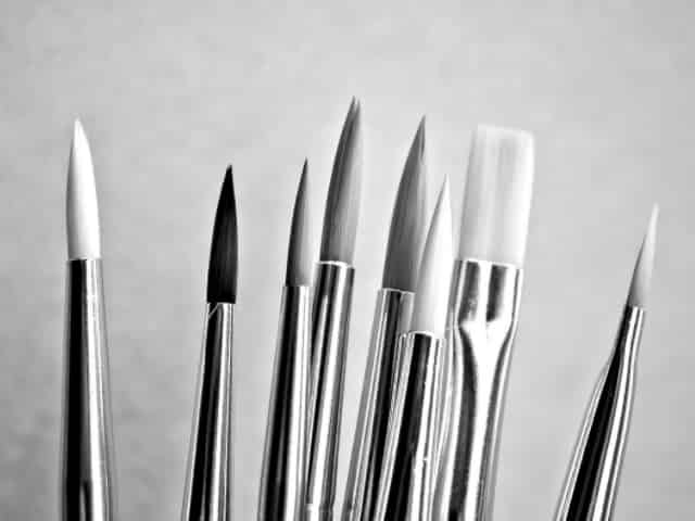 paintbrushes for local artists
