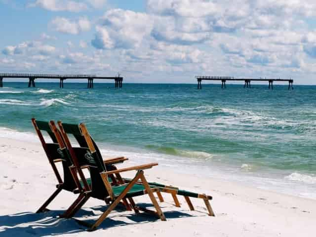 empty beach in 30A