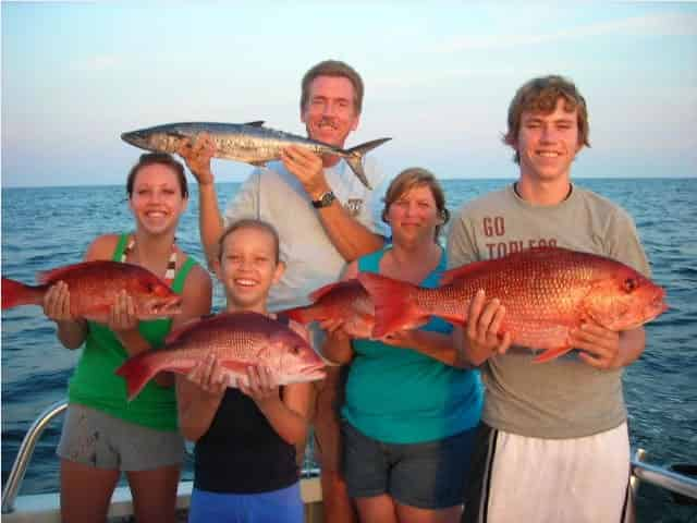 catching red snapper on a destin fl fishing charter