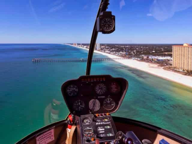 helicopter tour in panama city beach