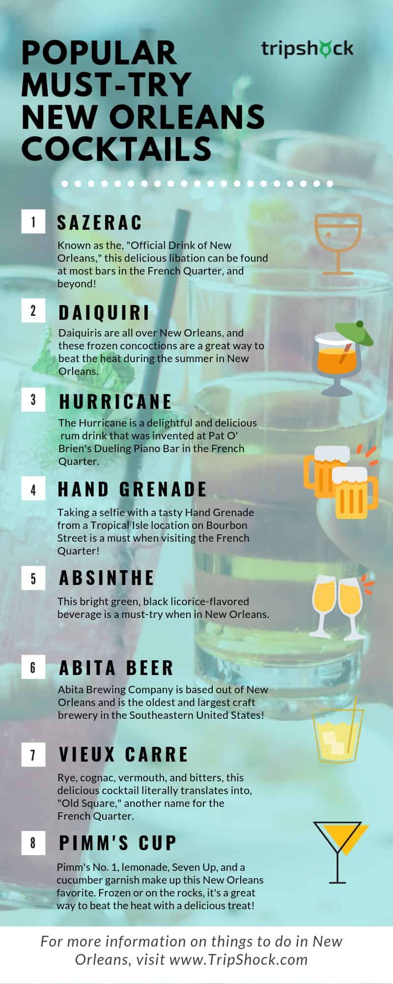 popular must try new orleans cocktails