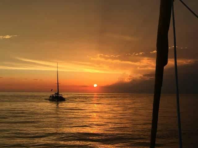 relaxing sunset sail in panama city beach