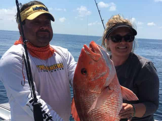 catch and eat snapper on a destin fishing charter