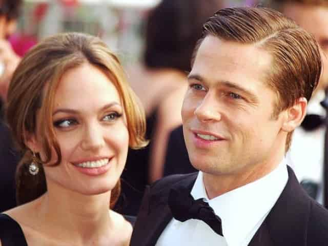 brad pitt and angelina jolie in new orleans