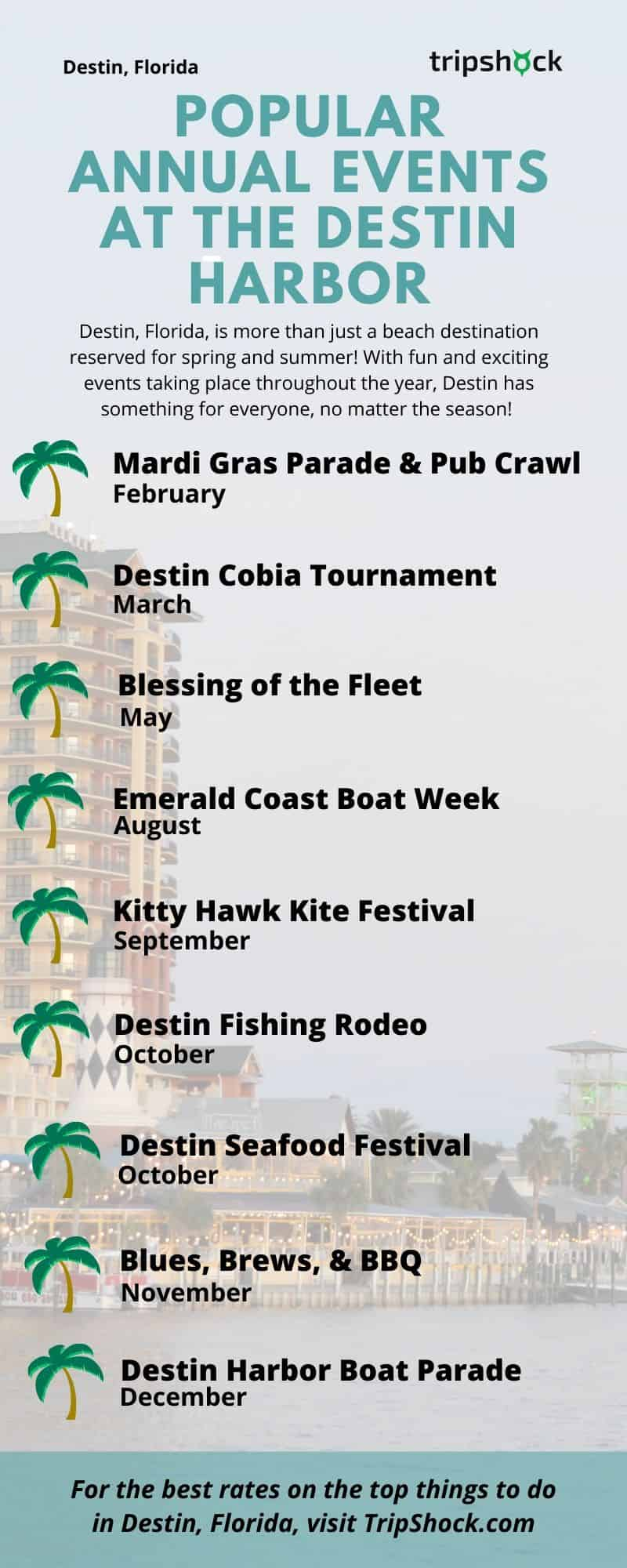 Popular Annual Events at the Destin Harbor