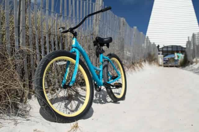 bike parked in seaside fl