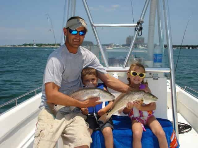 destin, florida, family vacation fishing trip