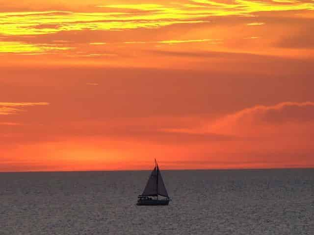 relax on a sunset sail