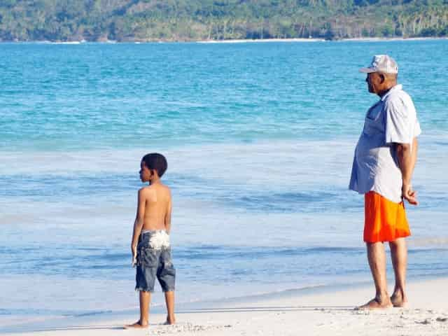 locals enjoy the beautiful beaches