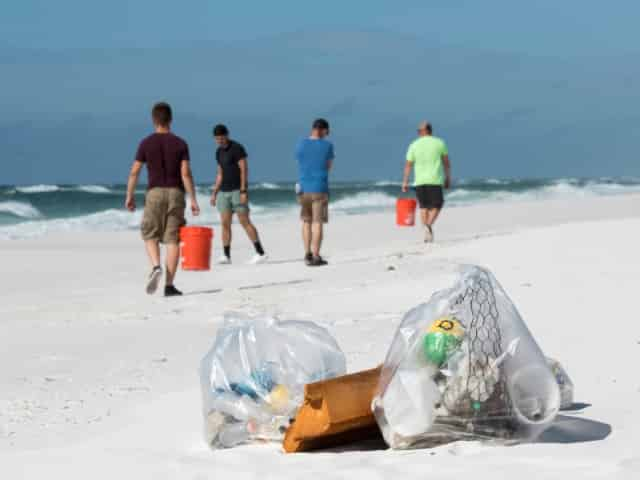 beach cleanup on the emerald coast