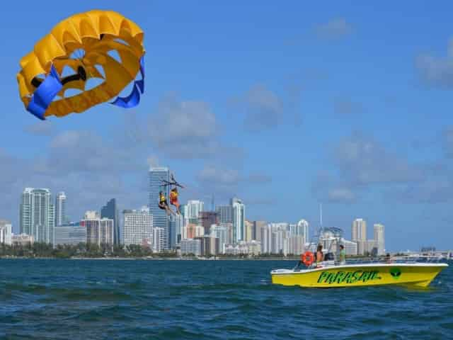 people parasailing in miami, fl
