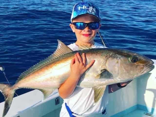 angler on fishing charter in panama city beach
