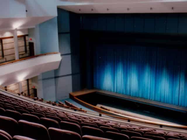 mainstage theater at mattie kelly arts center