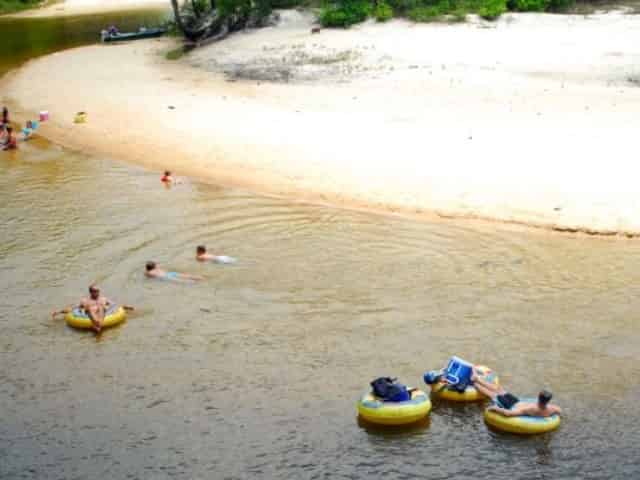 tubing through blackwater river in milton