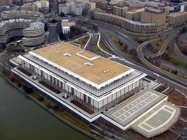Aerial View of the Kennedy Center