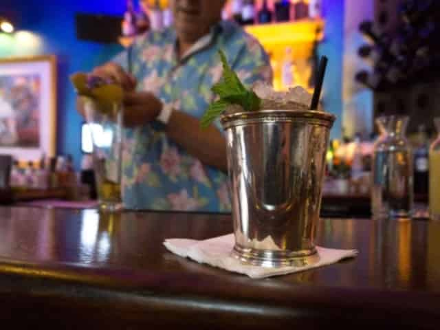 bartender making drink in new orleans