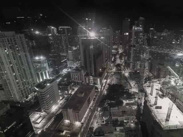 stunning view from a miami rooftop bar