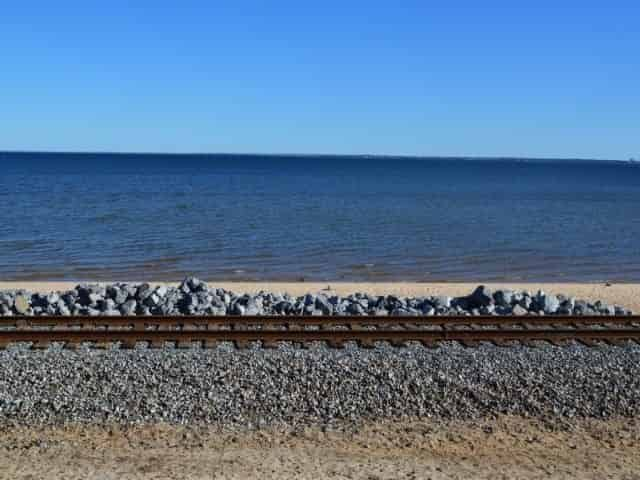 Beach at Pensacola Bay Bluffs Park