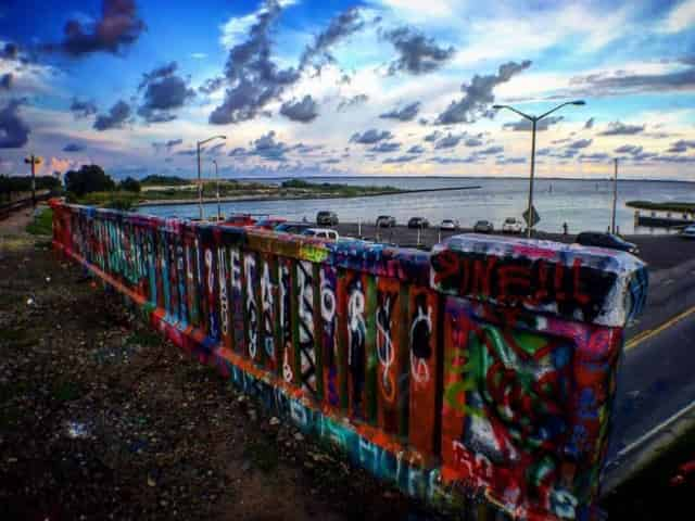 graffiti bridge in Pensacola, FL