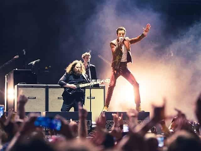 The Killers performing at Bonnaroo in Nashville