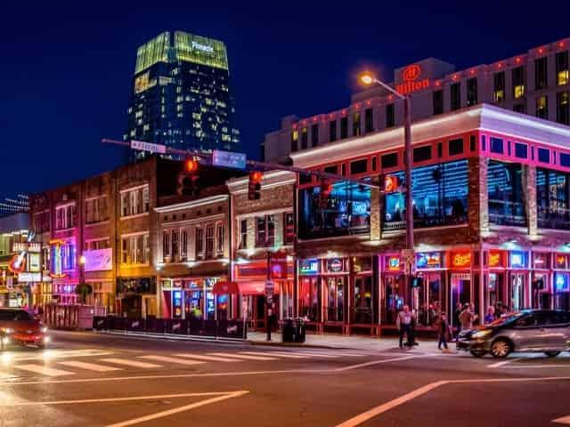 Downtown Nashville on Broadway
