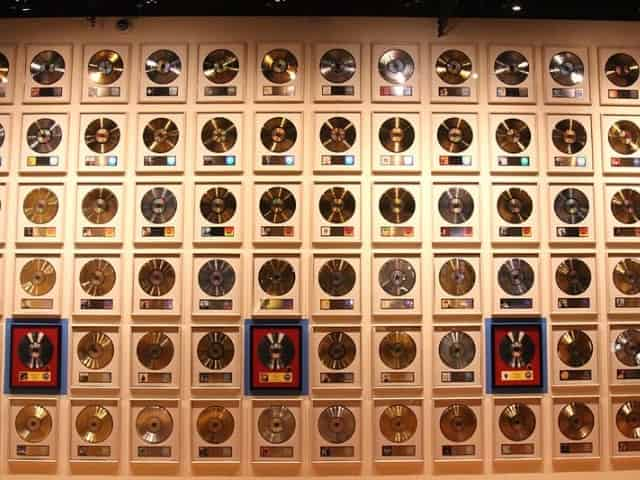 The Wall of Gold & Platinum Sales at the Country Music Hall of Fame in Nashville