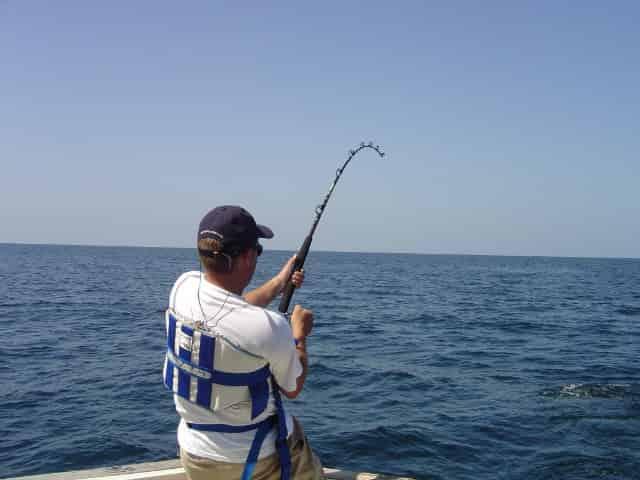 man deep sea fishing in tampa fl