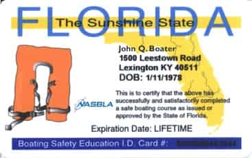 boater safety card in florida