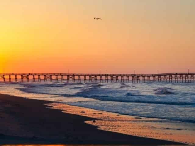 Stunning sunset in Myrtle Beach, SC