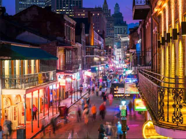view of busy street in new orleans