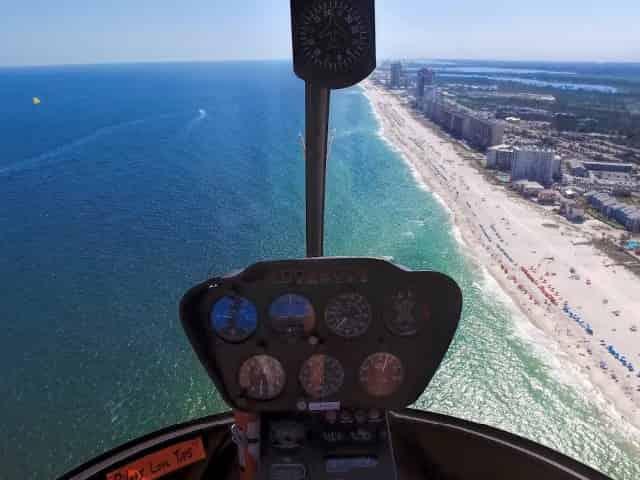 helicopter tours over coastal alabama