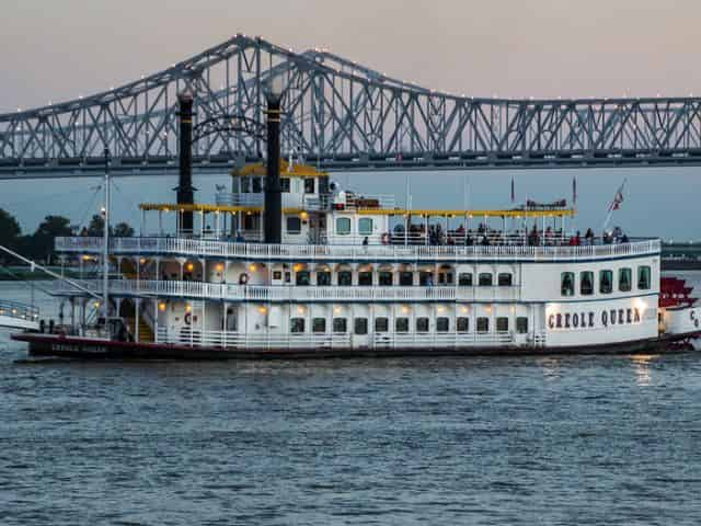 new orleans river cruise at sunset