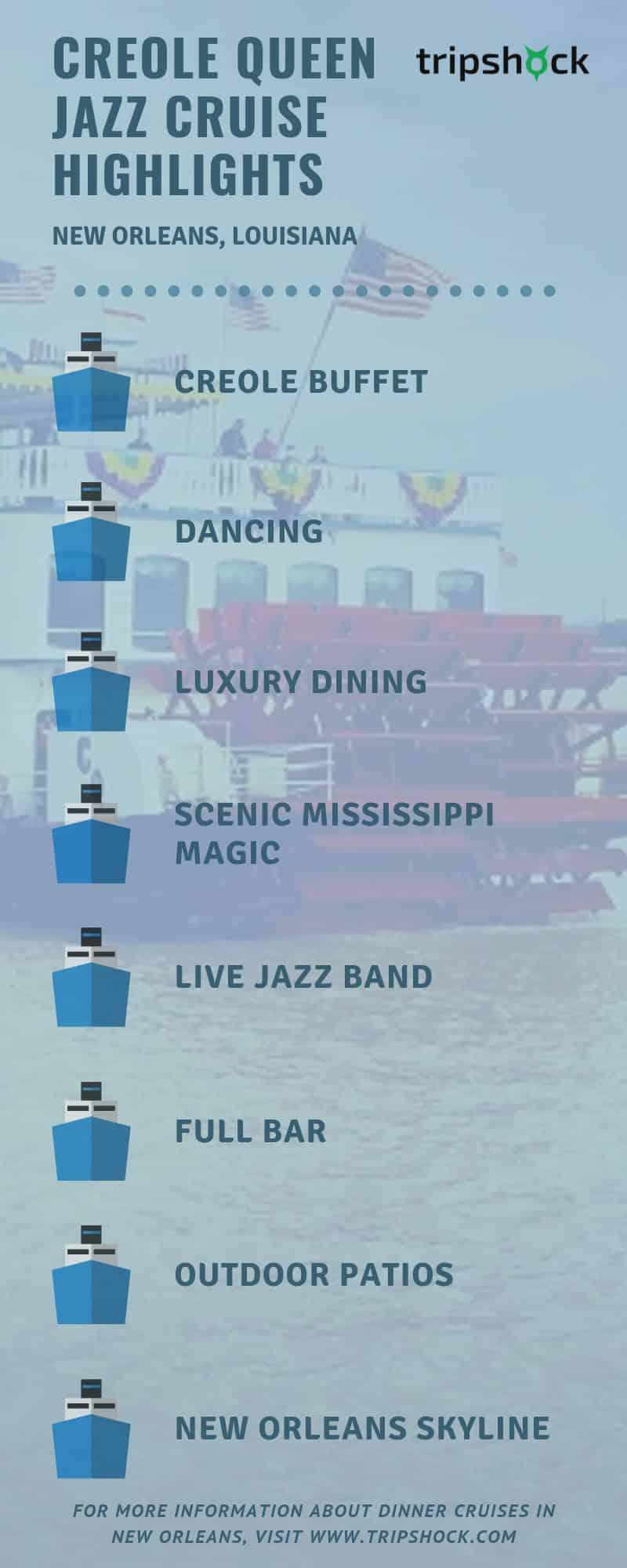 creole queen jazz cruise highlights
