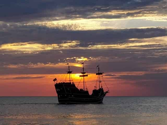 pirate cruise at sunset in Clearwater, FL